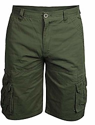 """cheap -mens outdoor relaxed-fit cargo shorts 11"""" cotton twill classic short for men 11 inch inseam active shorts army green size 32"""
