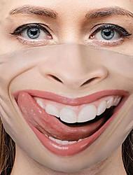 cheap -5 Pcs Black Masks Personality Face Expression Funny Masks Dust-proof Cotton Masks Printed Masks