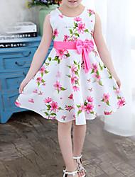 cheap -Kid's Little Girls' Dress Floral Multi Color Dresses
