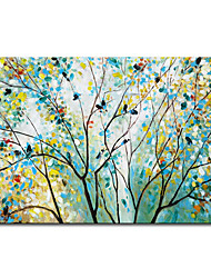 cheap -Mintura Large Size Hand Painted Tree Oil Paintings on Canvas Modern Abstract Wall Art Pictures For Home Decoration No Framed