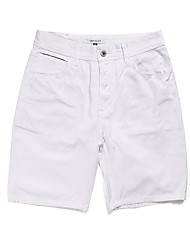 cheap -white regular fit flex work shorts - 34