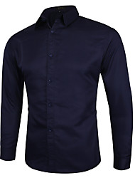 cheap -men's casual button down shirt slim fit point collar dress shirts black us x-large (tag asian 5xl)