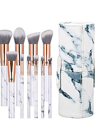 cheap -10pcs marble makeup brush set portable beauty tool cylinder barrel J1027-DC