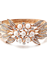 cheap -Women's Bracelet Bangles Classic Blessed Stylish Pearl Bracelet Jewelry Gold For Wedding Daily