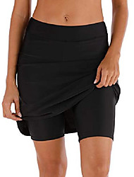 cheap -women's swim skirt shorts bottoms high waisted athletic skirt sun protection skirted skorts upf 50+ blue
