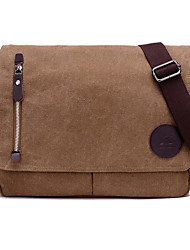 cheap -Men's Bags Canvas Crossbody Bag Zipper Daily Canvas Bag MessengerBag Black Army Green Brown Gray