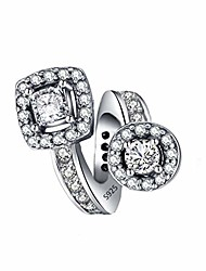 cheap -square & round geometric charms exquisite sparkly cz beads charms for women bracelets charm diy (round & square)