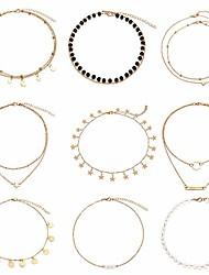 cheap -gold chain cz choker necklace - simple chain fashion handmade choker necklace … … … … b07gpcrg51