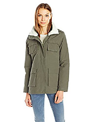 cheap -women's wax cotton utility jacket, olive, l