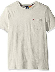 cheap -men's adaptive pocket t shirt with magnetic-buttons at shoulders, light grey heather, medium