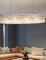 cheap -90cm LED Crystal Chandelier Pendant Light Modern Luxury Tricolor Light Lantern Desgin Island Light Stainless Steel Electroplated 110-120V 220-240V