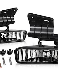 cheap -fog lights 880 12v 27w halogen lamp compatible with chevy silverado 1999-2002 suburban 2000-2006 chevy tahoe 2000-2006 (clear lens w/bulbs)