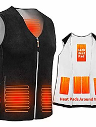 cheap -electric heated vest, blue (m)