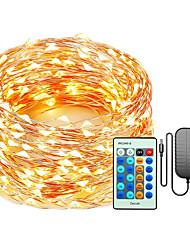 cheap -LED String 50M-500 30M-300 20M-200 10M-100 LEDs Copper Wire Christmas String Lights Dimmable with Remote Control Decute Fairy Starry Lights  for Party Wedding Bedroom Christmas Tree