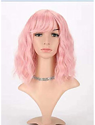 "cheap -ailewei 12"" pink bob wigs short synthetic wigs for women natural looking heat resistant"