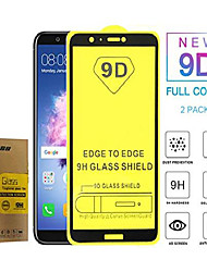 cheap -[2 pack] new 9d full coverage tempered glass for huawei y6 2018/y6 prime 2018 atu-l11 lx3 l21 l22 l31 l42 5.7inch anti-fingerprint anti-scratch screen glass protector film