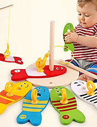 cheap -wooden montessori colorful fishing digital column game early educational toys bath time for kids toddler baby boys girls, bath tub spoon - 1#