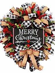 cheap -merry christmas wreath for window wall front door outside hanging decoration 2020 new