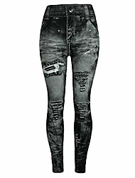 cheap -jeggings high waist butt lift skinny jeans vintage pants leggings plus/junior size s-xl gray