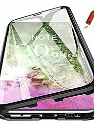 cheap -galaxy note20 ultra magnetic case, 360° double-sided 9h tempered glass shockproof magnetic adsorption metal bumper flip cover for samsung galaxy note20 ultra 5g 6.9 inch 2020 (black)
