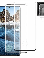 """cheap -2+2] galaxy note 10 plus hd tempered glass screen protector + camera lens protector [scratch resistant][3d curved full protection][high sensitive] support fingerprint for samsung galaxy note 10+ 6.8"""""""