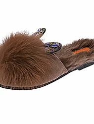 cheap -women's add wool warm slipper skin indoor outdoor crystal rabbit ears covered crystal rabbit shoes khaki