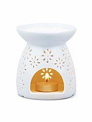 cheap -white ceramic tea light burner, aromatherapy oil burner, wax warmer, tealight holder (firework)