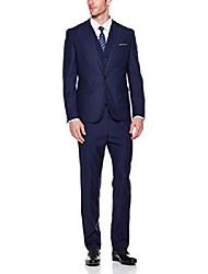 cheap -men's 3 pieces one button slim fit suit, navy, large - amazon vine