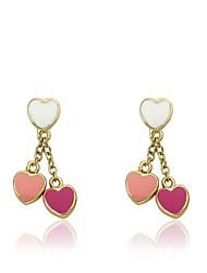 cheap -kids earring - 14k gold-plated double dangle earring - surgical steel post for sensitive ears
