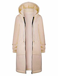 cheap -fashion casual women's autumn winter coats ladies plus size warm zipper open hoodies sweatshirt long coat jacket tops outwear (l, s-khaki)