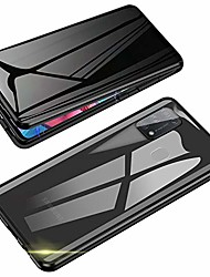 cheap -anti-spy case for samsung galaxy m31,  360 degree front and back privacy tempered glass cover, anti peeping screen, magnetic adsorption metal bumper for samsung galaxy m31 (black)