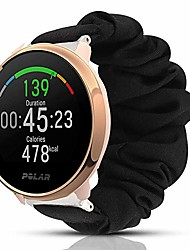 cheap -compatible for polar ignite band,  fabric elastic scrunchie elastic watch band women cute replacement straps for polar ignite fitness watch (black)
