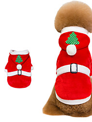 cheap -Cat Dog Jumpsuit Cartoon Christmas Dog Clothes Puppy Clothes Dog Outfits Red Costume for Girl and Boy Dog Cotton S M L XL XXL