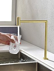 cheap -Kitchen faucet - Single Handle One Hole Black / Brushed Gold Purified water Centerset Contemporary Kitchen Taps