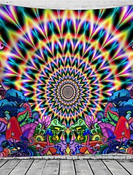 cheap -Psychedelic Abstract Wall Tapestry Art Decor Blanket Curtain Hanging Home Bedroom Living Room Decoration Polyester Hippie Mushroom Sunshine Landscape