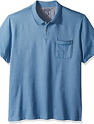 cheap -men's flex short sleeve polo, blue/black iris, small