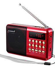 cheap -Mini Portable Radio Handheld Digital FM USB TF MP3 Player Speaker Rechargeable