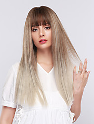 cheap -Synthetic Wig / Bangs Curly / Straight Style Side Part Capless Wig Grey Synthetic Hair 18 inch Women's Cosplay / Women / Synthetic Dark Gray Wig Long Cosplay Wig