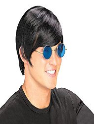cheap -rocket man pop star wig, black, one size