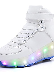 cheap -2017 single-wheeled led light high-gang runaway shoes white/blue-single wheel 13 m us little kid