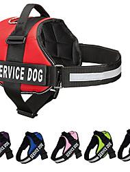 cheap -Dog Harness Reflective Strips Shockproof Vest Walking Color Block Nylon Medium Dog Large Dog Service Dog Black Red 1pc