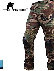 cheap -men airsoft hunting combat bdu pants gen3 tactical pants with knee pad woodland (m(32))