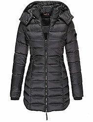 cheap -quilted jacket ladies transition jacket long winter with a hood warm thick quilted coat quilted coat winter coat
