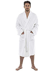 cheap -men towelling robe 100% cotton terry towel bathrobe dressing gown bath perfect for gym shower spa hotel robe holiday white xxl