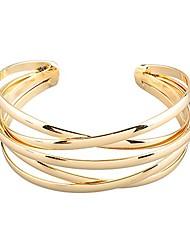 cheap -bangle bracelet open cuff style gold one size