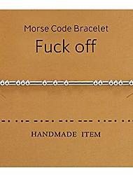 cheap -morse code bracelet beads on silk cord bracelet silver secret code bracelet gift jewelry (for friends)