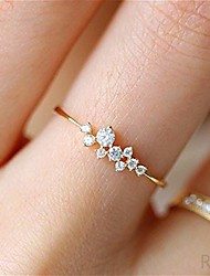 cheap -simple 18k gold color rings for teen girls class heart white sapphire studded eternity wedding ring 925 sterling silver engagement stackable diamond rings women fashion jewelry(gold,7