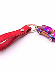 cheap -keychain flashlight  leather valet key chain flashlights with 2 extra key rings and gift box zinc alloy car (multicolor)