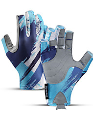 cheap -Bike Gloves / Cycling Gloves Anti-Slip Breathable Durable Fingerless Gloves Sports Gloves Blue Grey for Adults' Outdoor Exercise Cycling / Bike