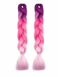 "cheap -1-6bundles jumbo braiding hair extensions 24"" ombre afro box braids any color long twist crochet hair style"